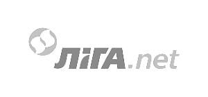чорно-біле лого liga.net
