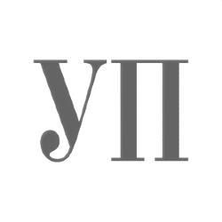 чорно-біле лого Української правди